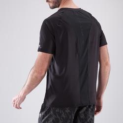 Camiseta fitness cardio hombre NEGRO FTS 500