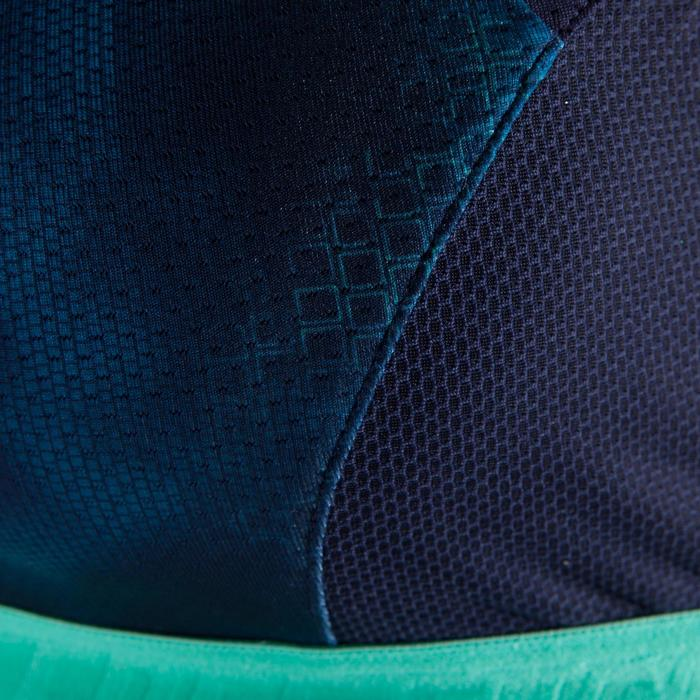Cardiofitness sportbeha voor dames marineblauw met print 500