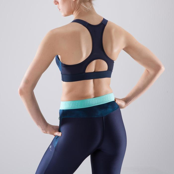 Sport-Bustier 500 Fitness Cardio-Training Print marineblau