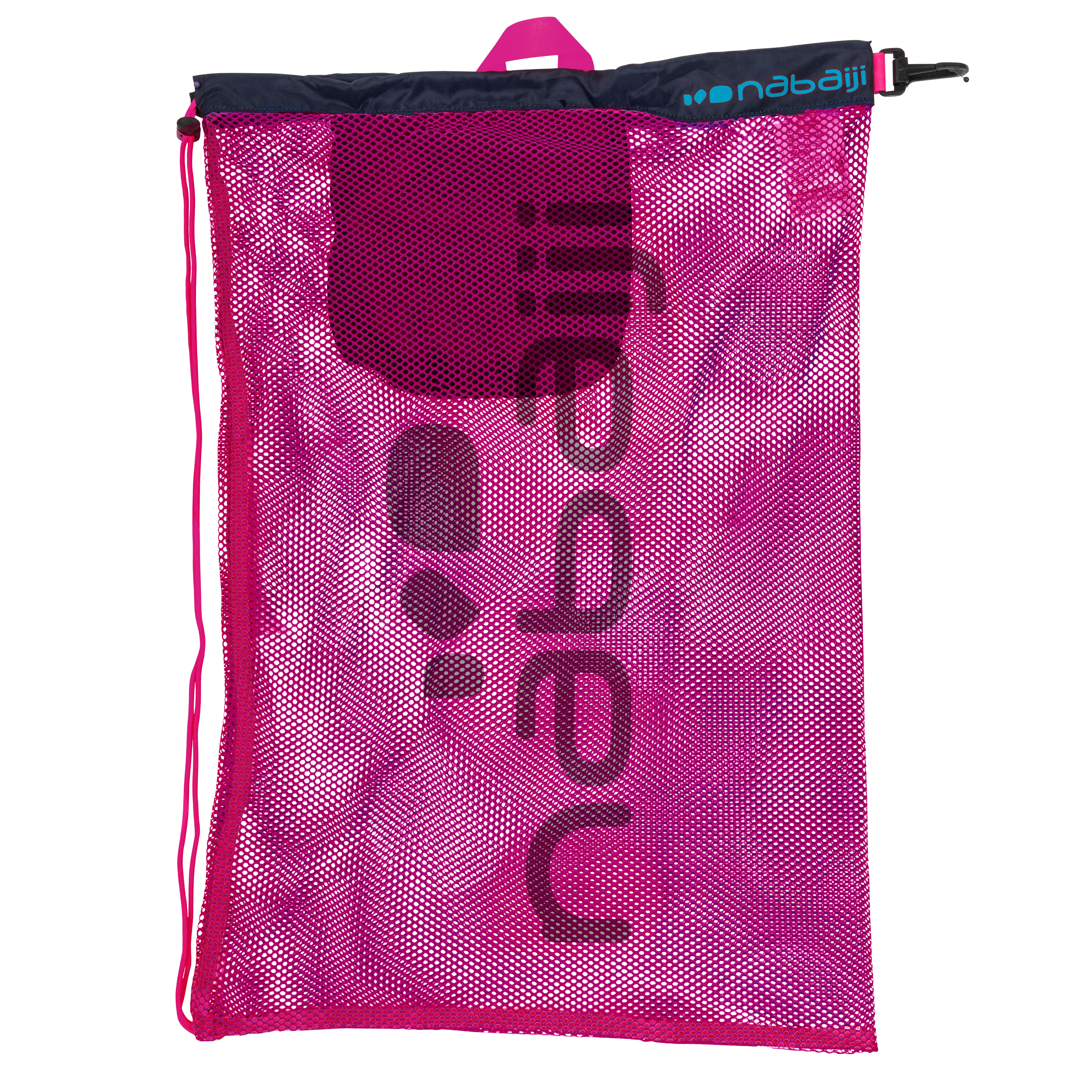 Nabaiji Large Mesh Pool Bag - Pink Blue