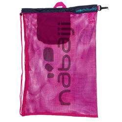 Grote zwemtas in netstof Nabaiji roze/blauw
