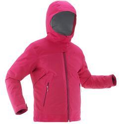 SH500青少年冬季登山健行防雪保暖三合一外套X-WARM-粉色
