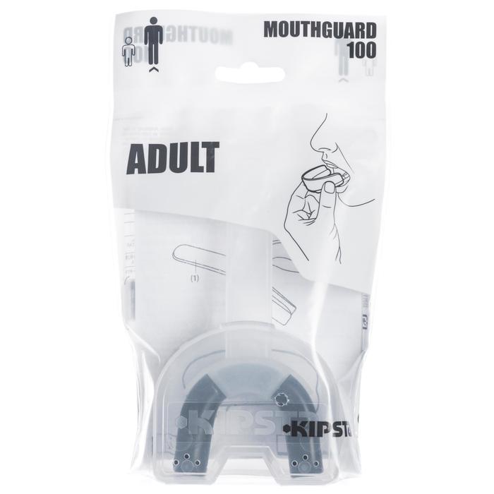 Protector dental de rugby adulto R100 negro