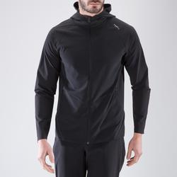 Sudadera deportiva cremallera con capucha Cardio Training Domyos 500 hombre negr