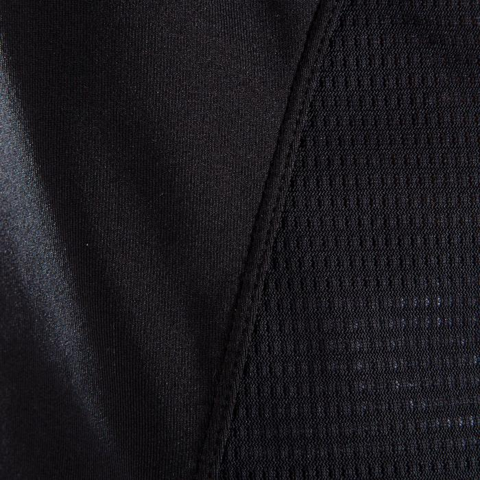 Camiseta amplia fitness cardio-training mujer negro con estampados blancos 120