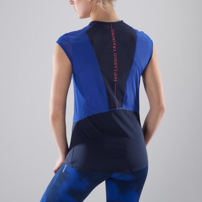 Camiseta de fitness cardio-training para mujer azul 900