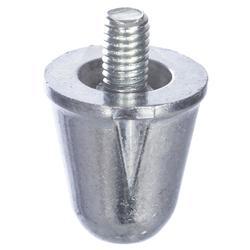 Aluminium rugbynoppen 18 mm