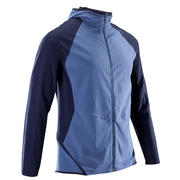 Domyos Men's Ultra Light with Hoodie Fitness Tracksuit Jacket - Blue/Black