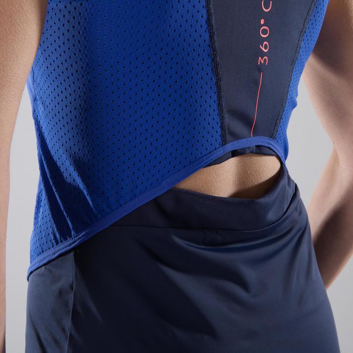 Cardiofitness tank 900 voor dames blauw