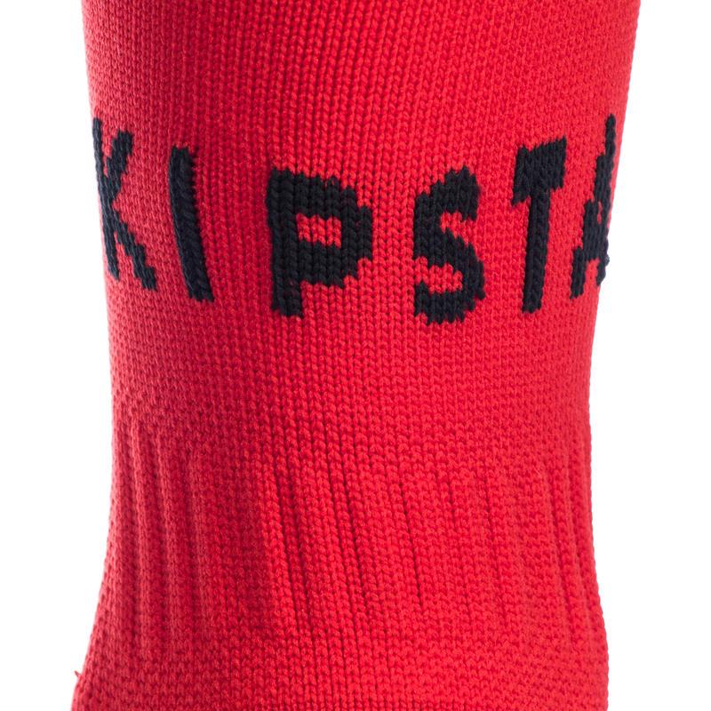 Knee-Length Rugby Socks R500 - Red