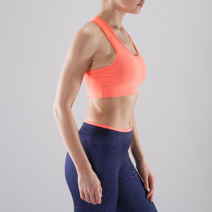Sujetador-top fitness cardio-training mujer coral 100