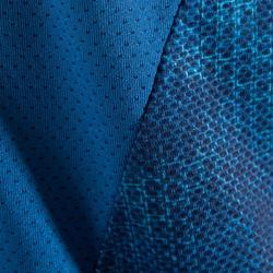 Cardiofitness T-shirt voor dames blauw met print 500