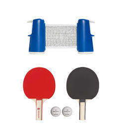 Small Rollnet Set of 2 Free Table Tennis Bats and 2 Balls