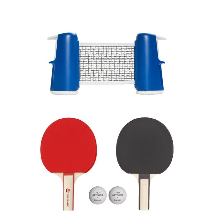 SET TENNIS DE TABLE FREE ROLLNET SMALL + 2 RAQUETTES + 3 BALLES - 1412365