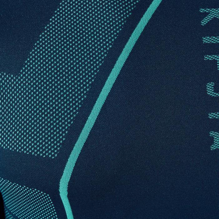 Ondershirt voor voetbal lange mouwen volwassenen Keepdry 500 donkergroen