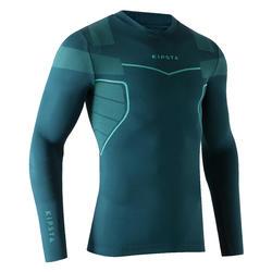 Camiseta térmica de fútbol manga larga Keepdry 500 verde oscuro e3b03589861e1