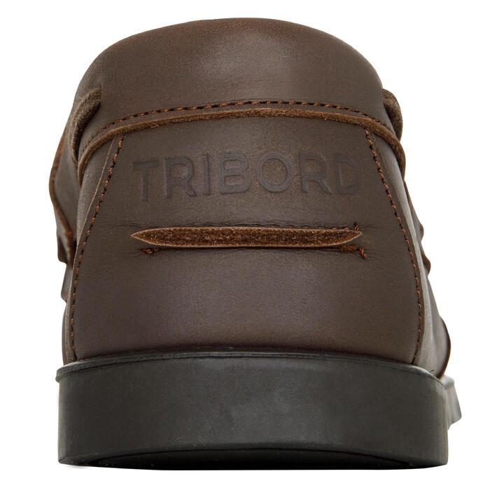 Chaussures bateau cuir homme CR500 - 1412555