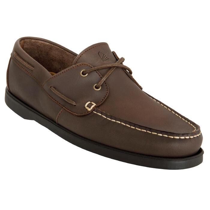 Chaussures bateau cuir homme CR500 - 1412556
