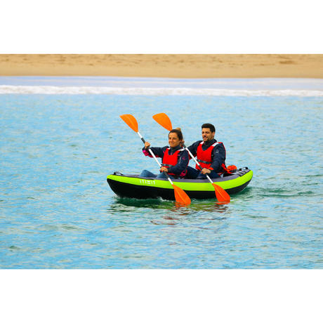 Inflatable 1- or 2-Seat Touring Canoe/Kayak - Blue