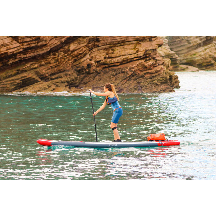 "STAND UP PADDLE GONFLABLE RANDONNEE COURSE 500 / 12'6-26"" ROUGE - 1412564"