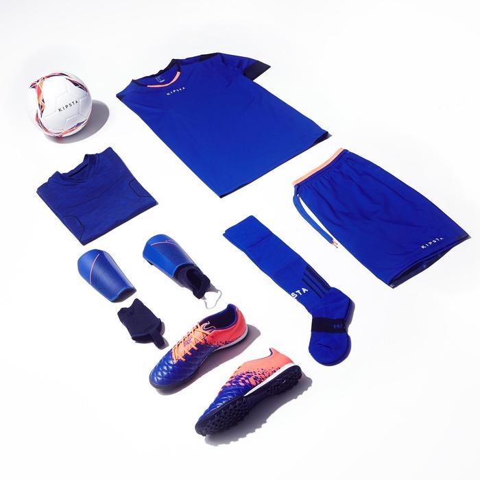 Sous maillot de football manches longues adulte Keepdry 500 bleu chiné foncé