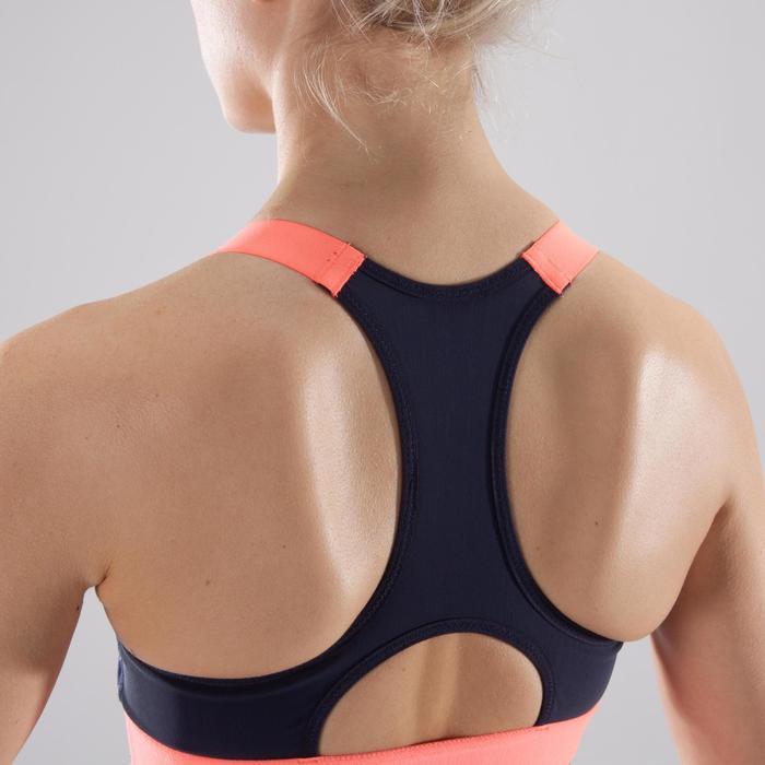 Brassière fitness cardio femme imprimés géométriques noirs 500 Domyos - 1412682