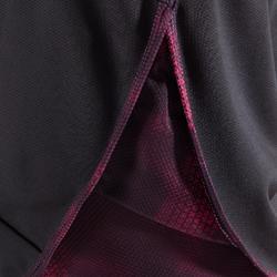 2-in-1 cardiofitness short voor dames zwart en roze 500