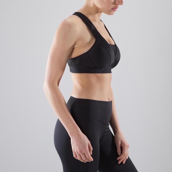 Sujetador-top fitness cardio-training mujer negro 900