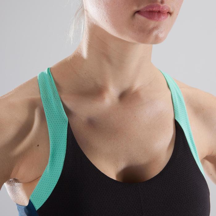 Brassière fitness cardio femme à imprimés tropicaux roses 500 Domyos - 1412711
