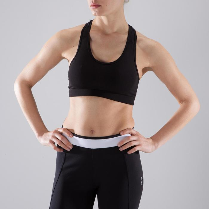 Sport-BH 100 Fitness Cardio Damen schwarz