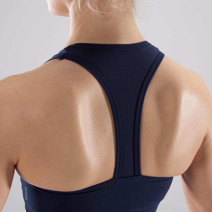 Top Deportivo Fitness Cardio Domyos 100 Mujer Azul Marino