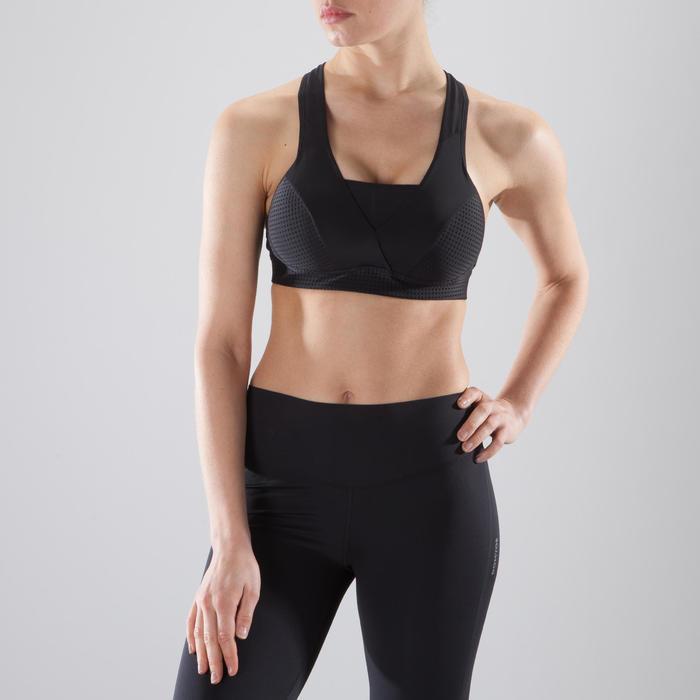 Brassière fitness cardio-training femme noire 900 - 1412809