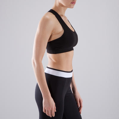 Top deportivo fitness cardio-training mujer 100 negro
