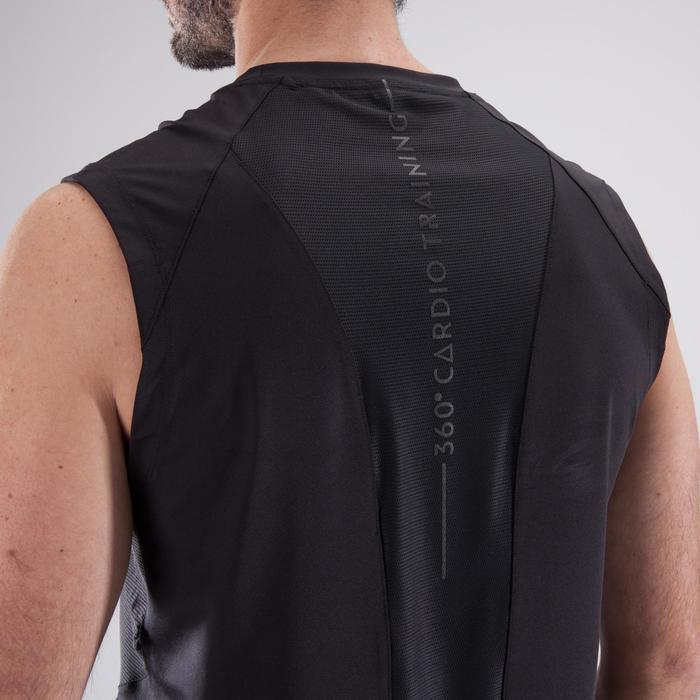 Tank-Shirt Fitness Cardio-Training FDE 500 Herren schwarz