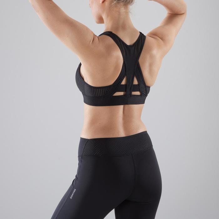 Brassière fitness cardio-training femme noire 900 - 1412818