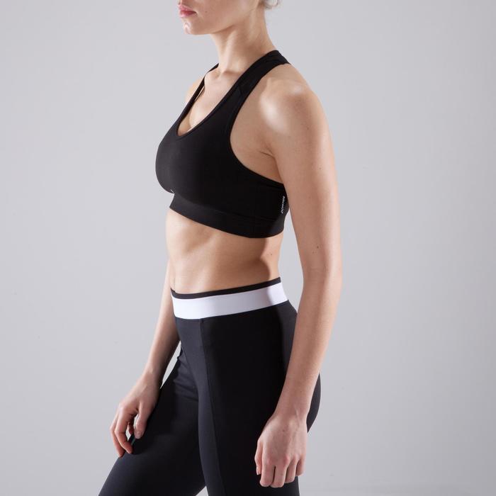 Brassière cardio fitness femme noire 100
