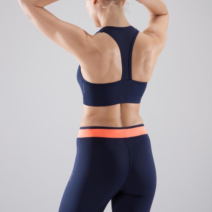 Sport-BH 100 Fitness Cardio Damen marineblau