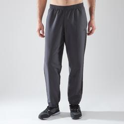 Pantalón Chándal Fitnes Cardio Adidas Hombre Gris Transpirable