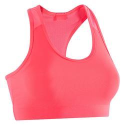 Cardiofitness sportbeha voor dames 100 roze