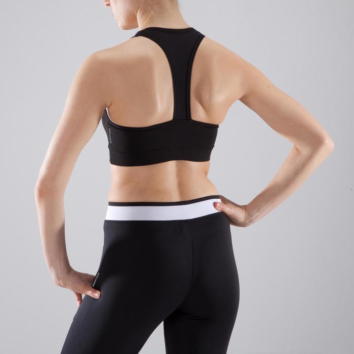 Sujetador-top cardio fitness mujer negro 100