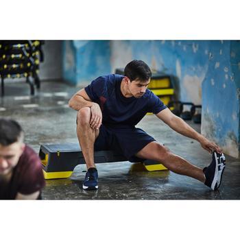 T-shirt fitness cardio homme noir imprimé FTS 120 - 1412895