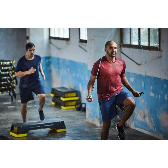 T-Shirt Cardio 120 Herren Fitness bordeauxrot mit Print