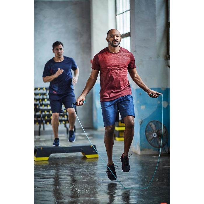 T-shirt fitness cardio homme noir imprimé FTS 120 - 1412898