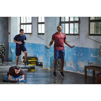 T-shirt fitness cardio homme noir imprimé FTS 120 - 1412899