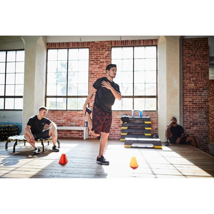 Short fitness cardio homme FST500 noir bordeaux