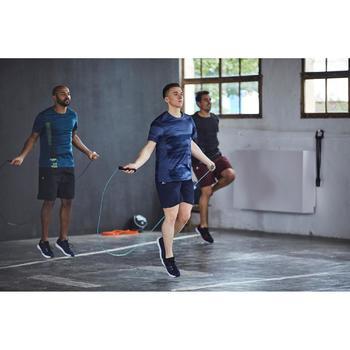 T-shirt fitness cardio homme noir imprimé FTS 120 - 1412932