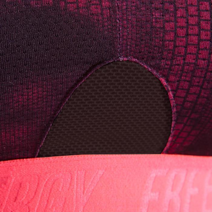 Brassière fitness cardio femme à imprimés roses 500