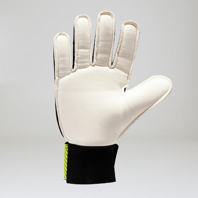 F100 Adult Football Goalkeeper Gloves - Black/Yellow
