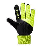 Črne in rumene rokavice za nogometnega vratarja F100 za odrasle