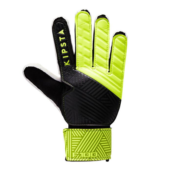 Guantes de portero de fútbol para adulto F100 negro amarillo